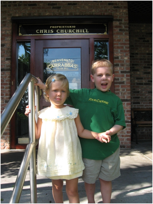 august-29-2007-6-adelaine-and-liam-at-their-fundraiser-at-carrabas-good-friends-both-undergoing-treatment-for-leukemia-at-all-childrens